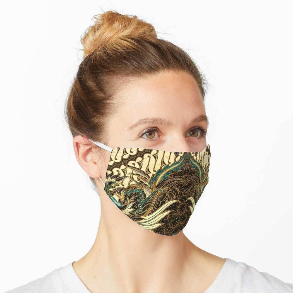 Indonesia Batik Pattern Mask